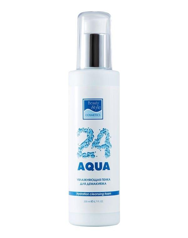 Beauty Style Пенка Hydration Cleansing Foam Увлажняющая для Демакияжа Аква 24, 200 мл увлажняющая пенка для демакияжа аква 24 beauty style
