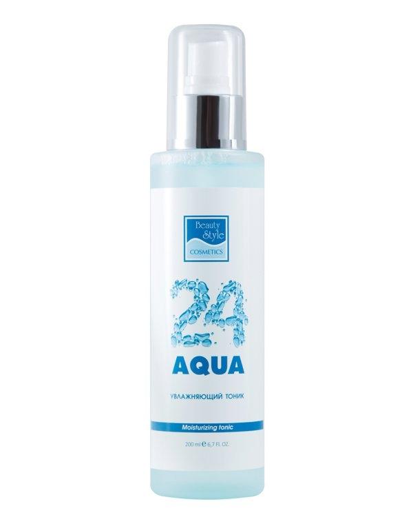 Beauty Style Тоник Moisturizing Tonic Увлажняющий Аква 24, 200 мл увлажняющая пенка для демакияжа аква 24 beauty style