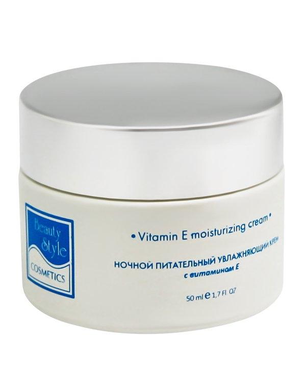 Beauty Style Крем Night Moisturising Cream with Vitamin E Ночной Питательный Увлажняющий с Витамином Е Аква 24, 50 мл