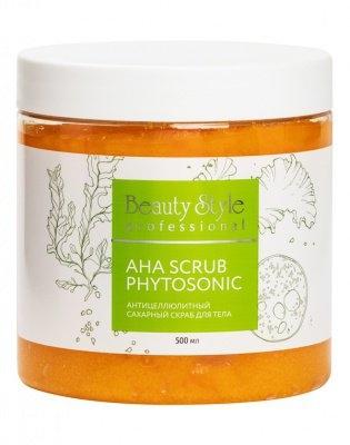 Beauty Style Антицеллюлитный Сахарный Скраб для Тела AHA Scrub Phytosoniс 500мл beauty style кислородонасыщающий сахарный скраб alga scrub artichoke 200мл