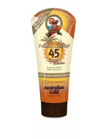 Australian Gold Защитный Лосьон для Лица, Загара на Солнце, с Бронзирующим Эффектом Premium Coverage SPF 45 Sheer Faces w/bronzer, 88 мл