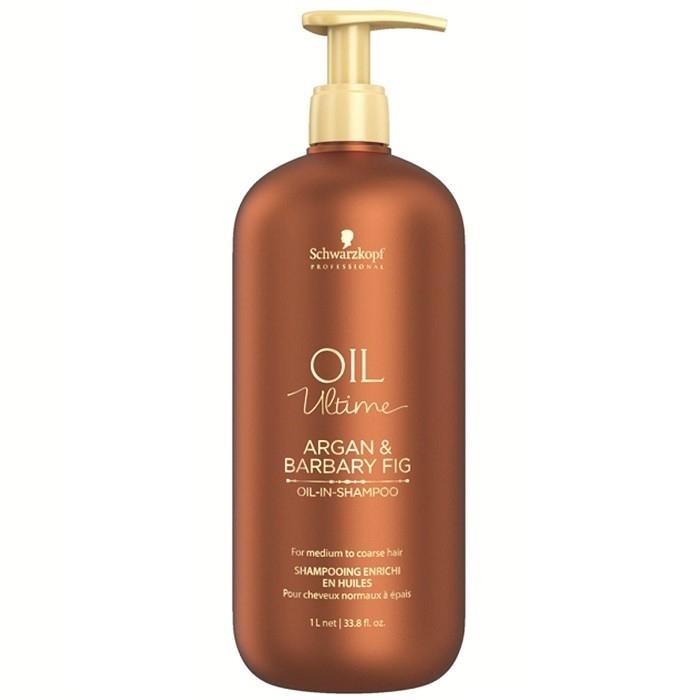 Schwarzkopf Шампунь для Жестких и Средних Волос Oil Ultime Oil-in-Shampoo, 1000 мл schwarzkopf маска для жестких и средних волос oil ultime 200 мл