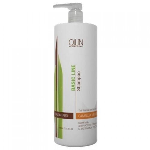 OLLIN PROFESSIONAL BASIC LINE Шампунь для Частого Применения с Экстрактом Листьев Камелии Daily Shampoo, 750 мл