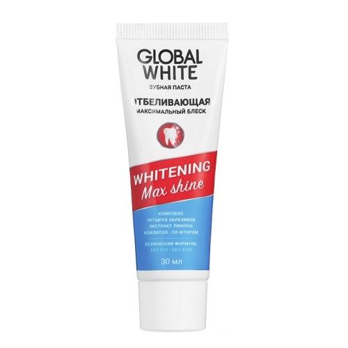 Global White Паста Whitening Max Shine Отбеливающая, 30 мл