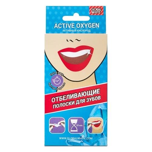 Global White Полоски Teeth Whitening Strips для Отбеливания Зубов, 2 саше