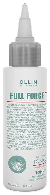 OLLIN PROFESSIONAL FULL FORCE Тоник Против Перхоти с Экстрактом Алоэ, 100 мл цены онлайн