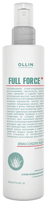 OLLIN PROFESSIONAL Спрей-Кондиционер Full Force Moisturizing Spray Conditioner Увлажняющий с Экстрактом Алоэ, 250 мл спрей тоник ollin professional full force