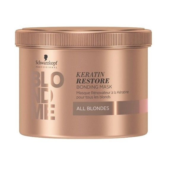 Schwarzkopf Бондинг-Маска Кератиновое Восстановление BlondMe Keratin Restore Bonding Mask All Blondes, 500 мл