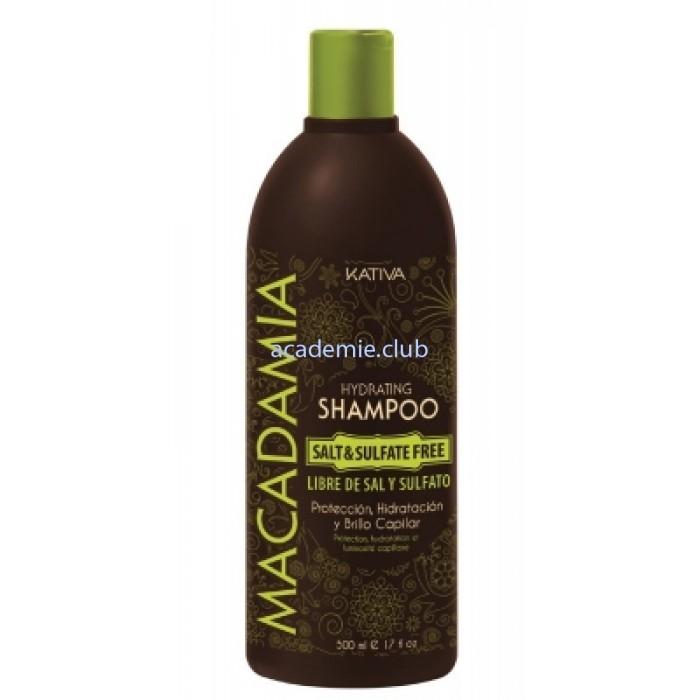 Kativa Увлажняющий Шампунь для Нормальных и Поврежденных Волос Macadamia, 500 мл