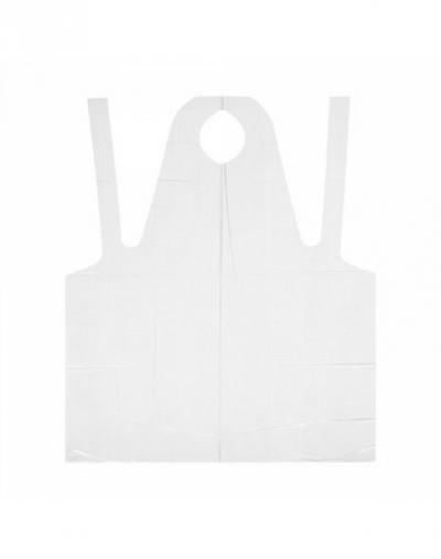 white line фартук полиэтиленовый прозрачный 120х80 см 50 шт IGRObeauty Фартук 75х120 см, Прозрачный, для Мастера, 16 мкр, 50 шт