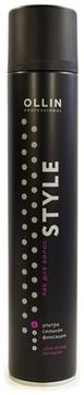 Фото - OLLIN PROFESSIONAL Лак Style Ultra Strong Hair Spray для Волос Ультрасильной Фиксации,  500 мл hair company фиксирующий лак придающий блеск сверхсильной фиксации illuminating extreme spray 500 мл