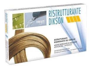 Dikson Средство Ristrutturante Ампульное для Волос, 12*12 мл dikson тонизирующий лосьон с протеинами шелка ампульное лечение 10 шт по 12 мл