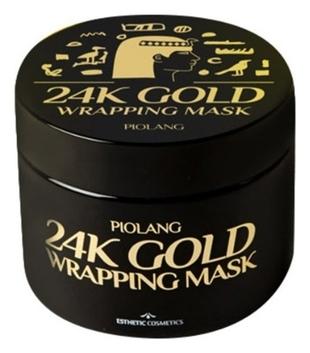Esthetic House Маска Piolang 24K Gold Wrapping Mask для Лица с 24 Каратным Золотом, 80 мл