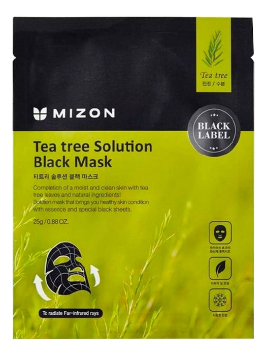 Фото - MIZON Маска Tea Tree Solution Black Mask для Лица с Экстрактом Чайного Дерева, 25г альгинатная маска с маслом чайного дерева пудра активатор aqua tea tree magic mask