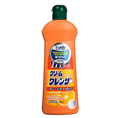 Фото - Funs Крем Orange Boy Чистящий Универсальный с Ароматом Апельсина, 400 мл funs спрей для ванной комнаты с ароматом апельсина и мяты 0 38 л