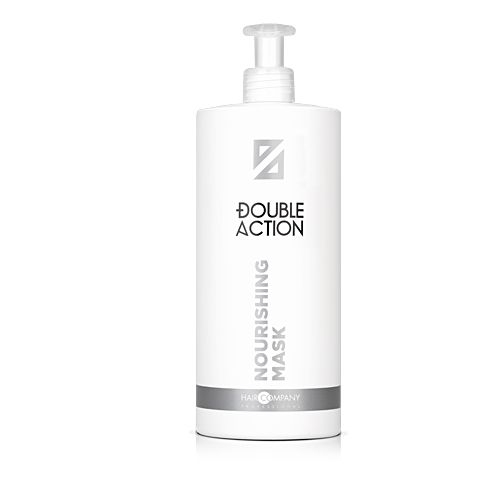 HAIR COMPANY Маска питательная Double Action NOURISHING MASK, 1000 мл hair company маска для волос post treatment mask 1000 мл