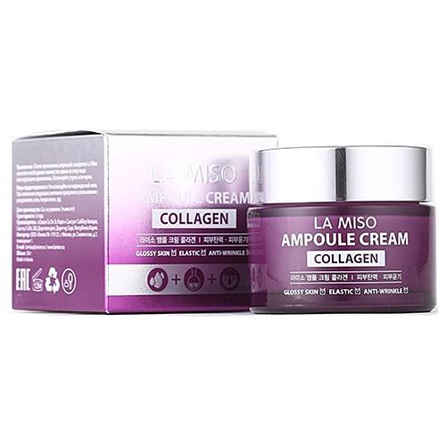 La Miso Крем Ampoule Cream Collagen Ампульный с Коллагеном, 50 мл la miso ampoule cream hyaluronic крем для лица с гиалуроновой кислотой 50 г