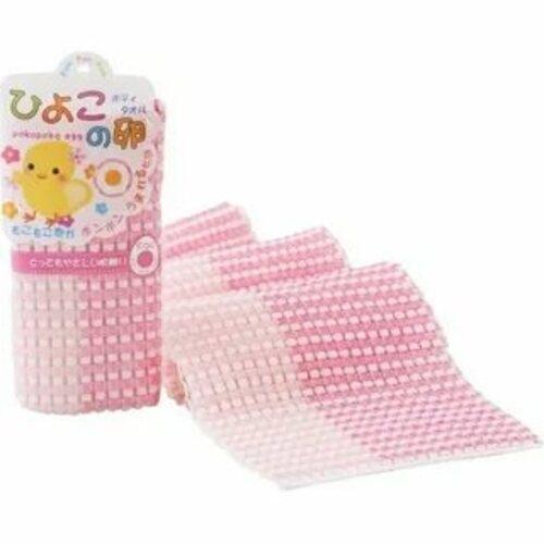 Yokozuna Мочалка-Полотенце Pokopoko Egg для Детей, Розовая, 1шт