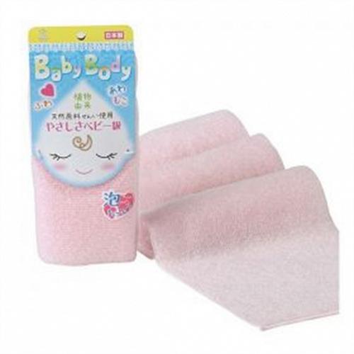 Yokozuna Мочалка-Полотенце Baby Body для Детей из Волокон Кукурузы, Розовая, 1шт