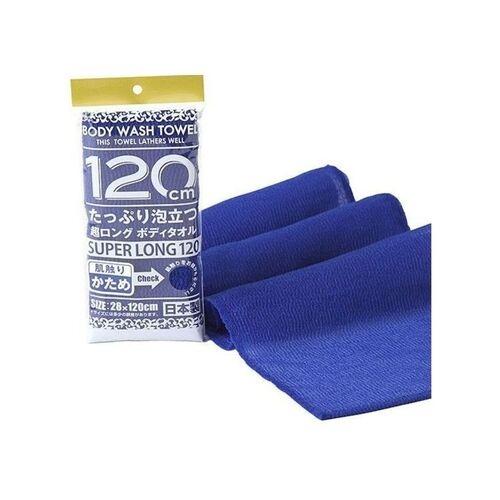 Yokozuna Мочалка Shower Long Body Towel для Тела Серхжесткая, Темно-Синяя, 28Х100 см, 1 шт ohe мочалка awayuki для тела сверхжесткая удлиненная синяя 28х100 см 1 шт
