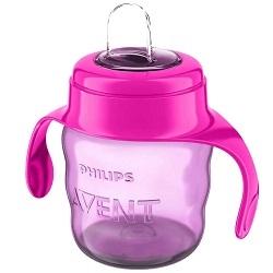 AVENT Philips Чашка-Поильник (200 мл, 6 мес+) Розовая Comfort warwick sasco поильник градуированный с широким носиком 200 мл