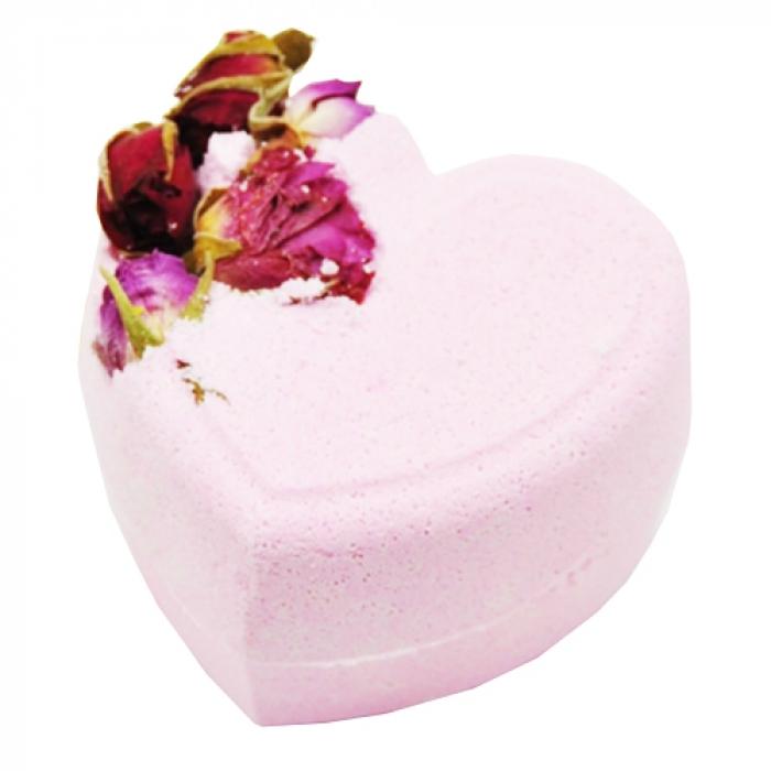 соль для ванны organic therapy бомбочка для ванны золотой янтарь BOOM SHOP cosmetics Бомбочка для Ванны Мое Пылающее Сердце, 220г