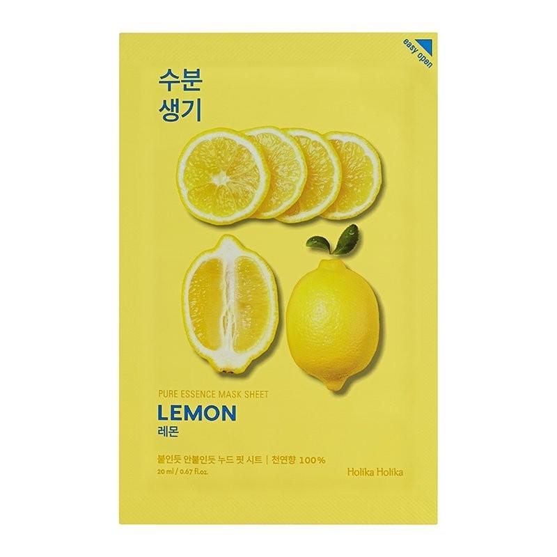 Holika Holika Маска Pure Essence Mask Sheet Lemon Тонизирующая Тканевая Пьюр Эссенс Лимон, 20 мл новинки косметики эссенс