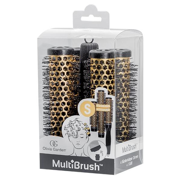 OLIVIA Garden Набор MultiBrush Брашингов для Укладки Волос 26 мм 4 шт со Съемной Ручкой в Комплекте