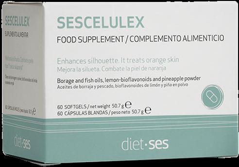 Sesderma БАД Sescelulex Food Supplement к Пище Сесцелюлекс, 60 капсул