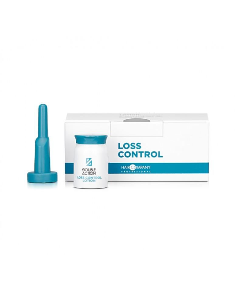 HAIR COMPANY Лосьон против выпадения волос Double Action LOSS CONTROL LOTION, 10х10 мл цена