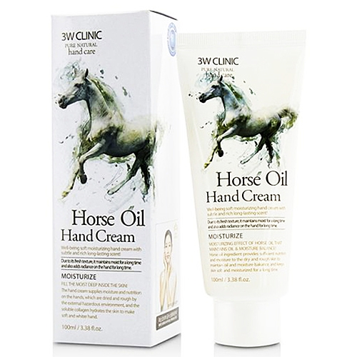 3W Clinic Крем Moisturizing Hand Cream Horse Oil для Рук с Лошадиным Маслом, 100 мл chi luxury black seed oil curl defining cream gel