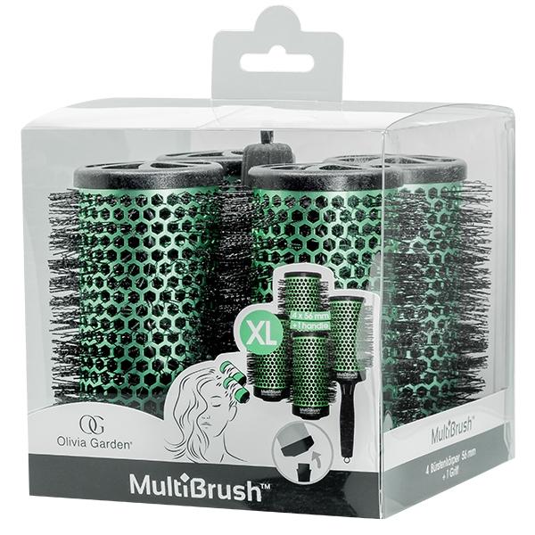 OLIVIA Garden Набор MultiBrush Брашингов для Укладки Волос 56 мм 4 шт со Съемной Ручкой в Комплекте