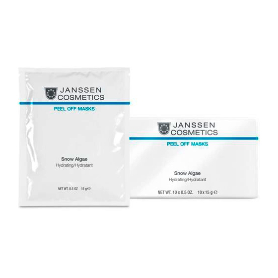 Janssen Маска Snow Algae Hydrating Anti-Age Увлажняющая Альгинатная, 10*15г увлажняющая маска bioaqua увлажняющая маска
