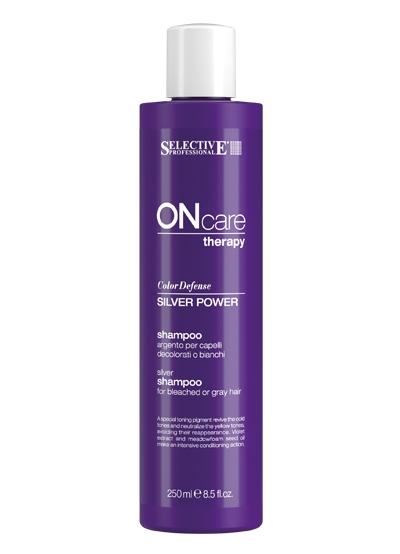 Selective Professional Power Shampoo Серебряный Шампунь для Седых Волос, 250 мл