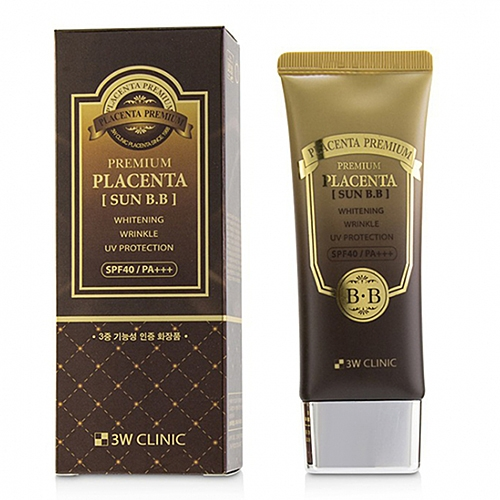 3W Clinic BB-Крем Premium Placenta Sun BB Cream для Лица с Плацентой Солнцезащитный, 95г