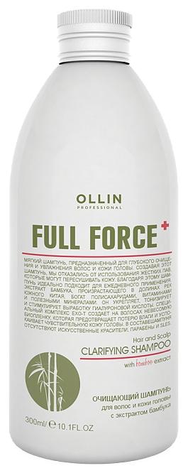 OLLIN PROFESSIONAL FULL FORCE Очищающий Шампунь для Волос и Кожи Головы с Экстрактом Бамбука, 300 мл