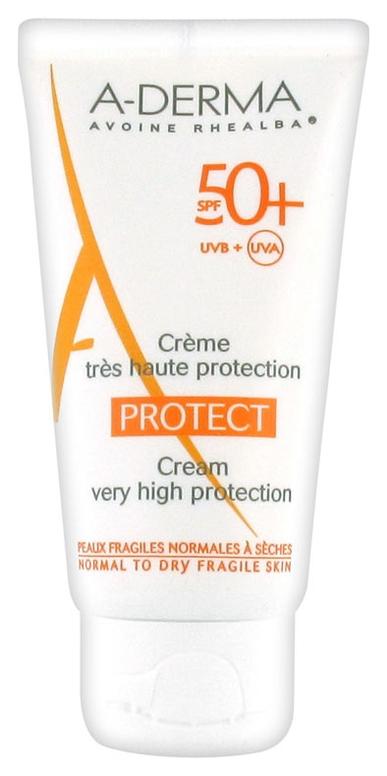 A-Derma Крем Cолнцезащитный SPF 50+ Протект, 40 мл cолнцезащитный крем spf 30 to go 50 мл holyland laboratories sunbrella