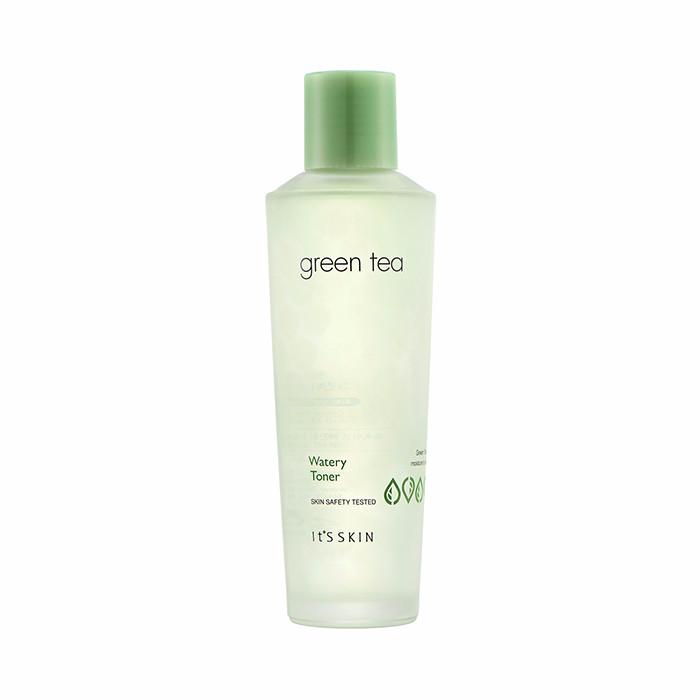 It's Skin Тонер Green Tea Watery Toner для Жирной и Комбинированной Кожи с Зеленым Чаем, 150 мл увлажняющий лосьон для мужчин с коллагеном и зеленым чаем 150 мл lebelage