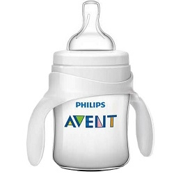 AVENT Philips Бутылочка из Полипропилена с Ручками (125 мл, 4 мес+) Philips Avent Серия Classic+ бутылочка для кормления philips avent с мягким носиком и ручками от 4 месяцев цвет белый