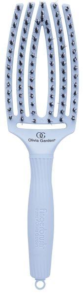 OLIVIA Garden Щетка Finger Brush Combo Medium для Волос + Натуральная Щетина Pastel Blue