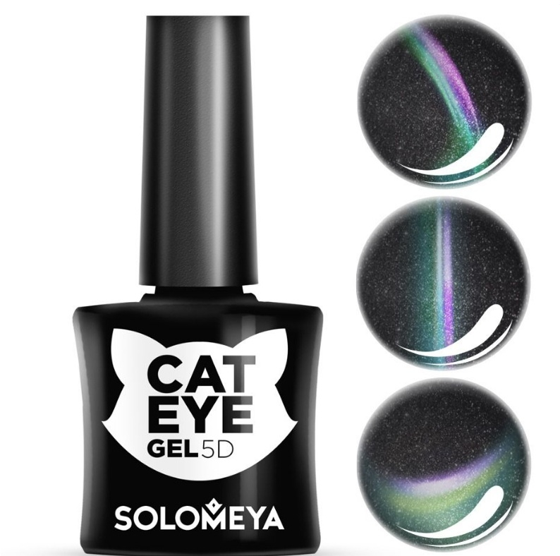 цена на Solomeya Гель-Лак Vip Cat Eye Sphynx Кошачий Глаз Сфинкс 3/ 5D, 5 мл