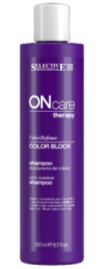 Selective Professional Шампунь Color Defense On Care Therapy Block Shampoo для Стабилизации Цвета, 250 мл