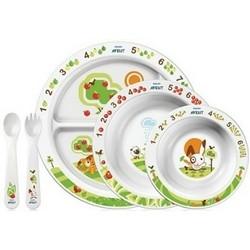 AVENT Philips Набор Посуды 9 Тарелки 3шт.,Вилка, Ложка, 6 мес+ цены онлайн