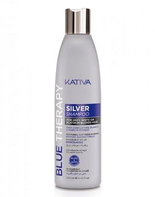 Kativa Шампунь Нейтрализатор Желтизны для Осветленных и Мелированных Волос Blue Therapy, 250 мл