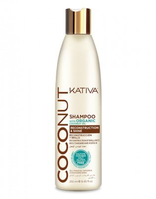 лучшая цена Kativa Шампунь Восстанавливающий для Поврежденных Волос Coconut, 250 мл