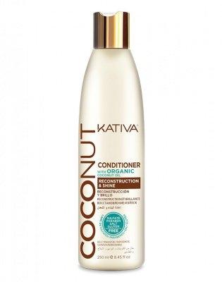 купить Kativa Кондиционер Восстанавливающий для Поврежденных Волос Coconut, 250 мл по цене 585 рублей