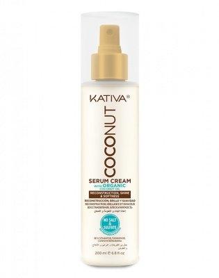 Kativa Крем-Сыворотка Восстанавливающая для Поврежденных Волос Coconut, 200 мл