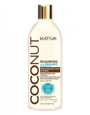 Kativa Шампунь Восстанавливающий для Поврежденных Волос Coconut, 500 мл недорого