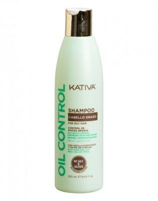 Kativa Шампунь Контроль для Жирных Волос Oil Control, 250 мл шампунь с маслом шикакай амлой для жирных волос farm oils farm oils 250 мл