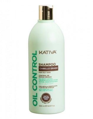 Kativa Шампунь Контроль для Жирных Волос Oil Control, 500 мл